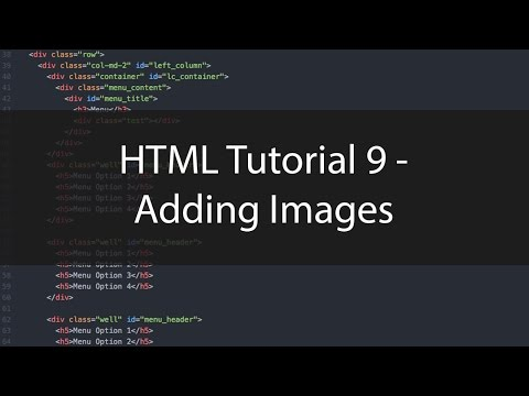HTML Tutorial 9 - Adding Images