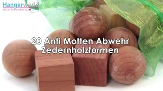 HANGERWORLD - 20 Stück Zedernholz Formen Mottenschutz