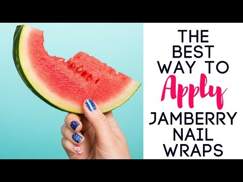 The BEST & EASIEST Way To APPLY Jamberry Nail Wraps!