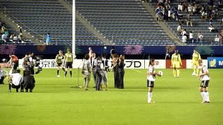 2012/9/8 FIFA U-20 女子ワールドカップ 2012 決勝前半終了後ハーフタイ...