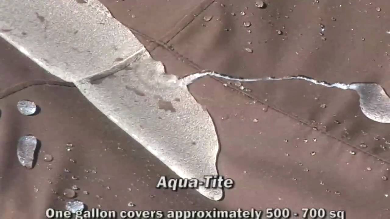 Aqua Tite Water Amp Stain Repellent For Fabric Youtube
