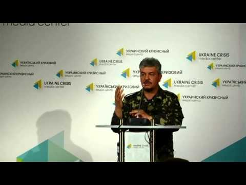 Volodymyr Volkov. Ukraine crisis media center, 19th of June, 2014