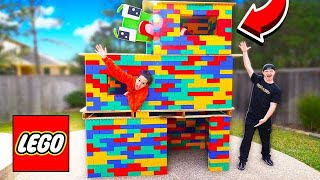 BUILDING A 3 STORY LEGO MANSION! (WORLD'S BIGGEST HOUSE)
