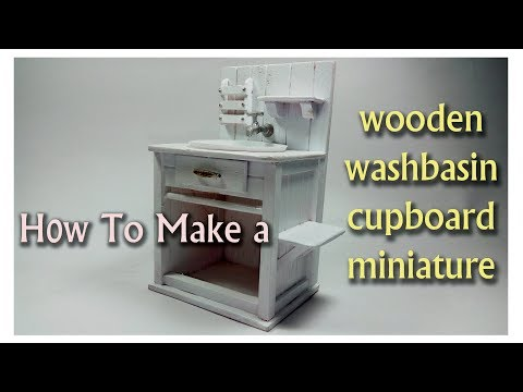 How to Make a Dollhouse Miniature Wooden Furniture
