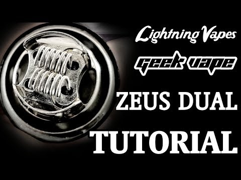 Geekvape Zeus Dual RTA Build & Wicking Tutorial - By Lightning Vapes