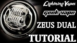 Geekvape Zeus Dual RTA Build & Wicking Tutorial - By Lightning Vapes