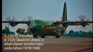 c 130hs hercules a 1320 skadron udara 31 yang pertama mendarat di palu pasca gempa bumi