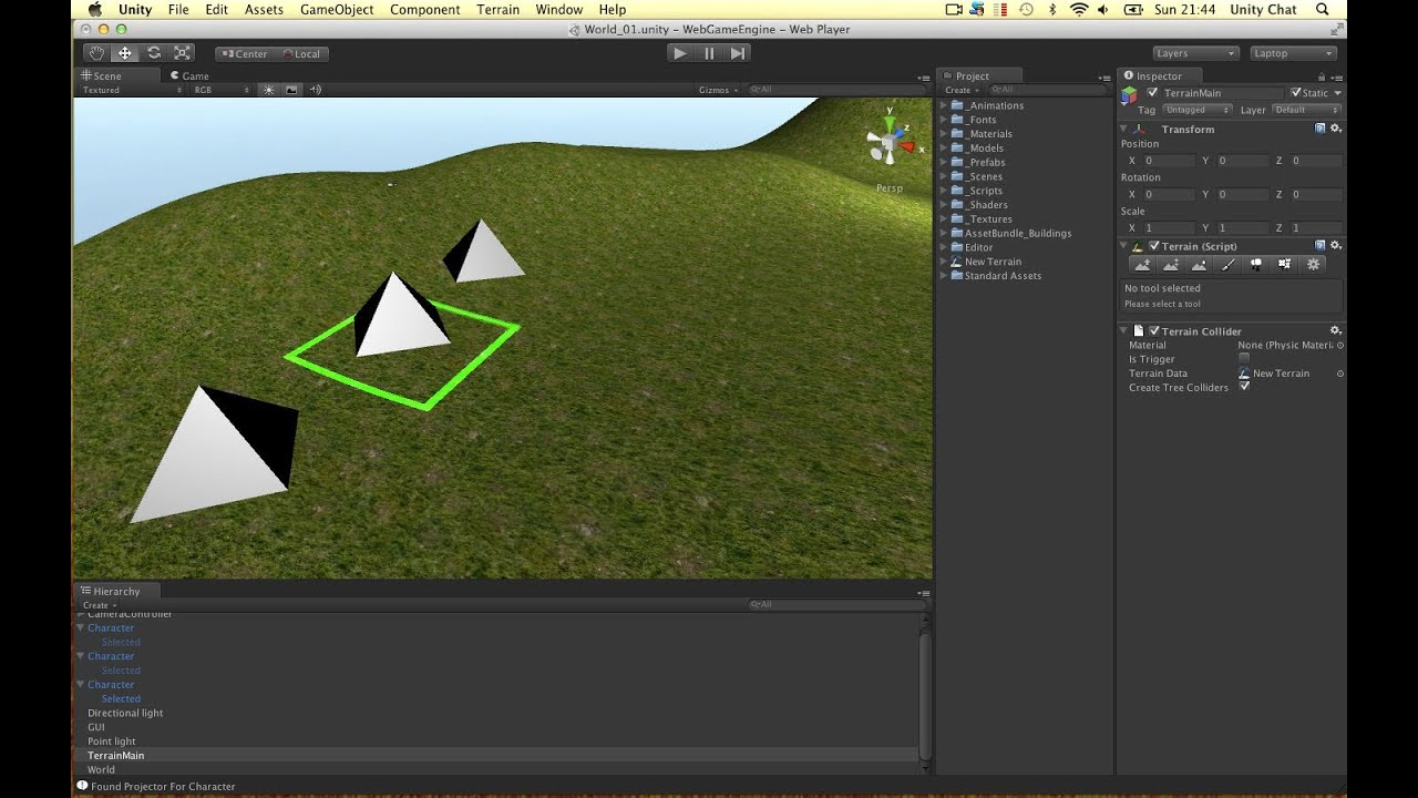 """Unity3d & kinect: """"holographic"""" effect using projection matrix."""