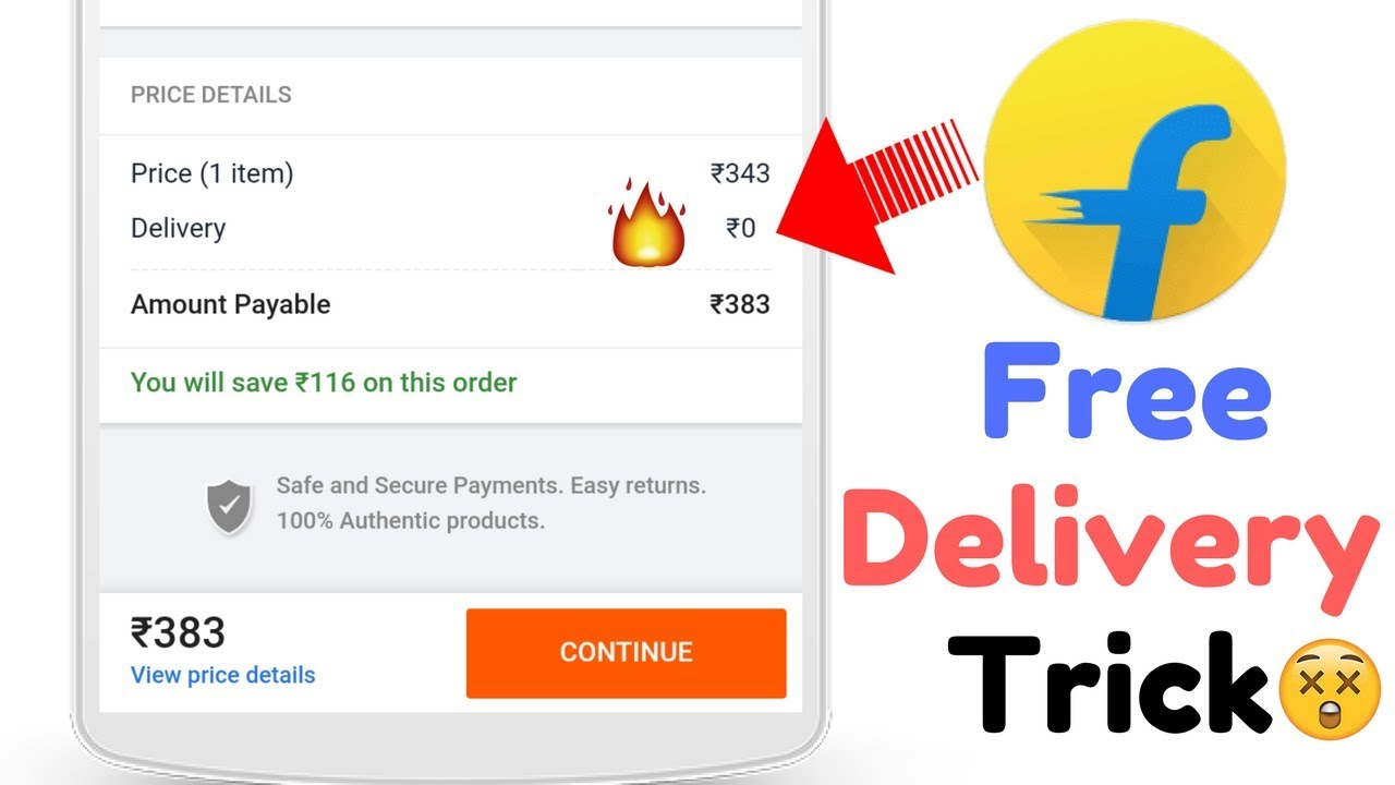 e9d029375b0 Flipkart Free Delivery Trick 🔥 No Delivery Charges - YouTube