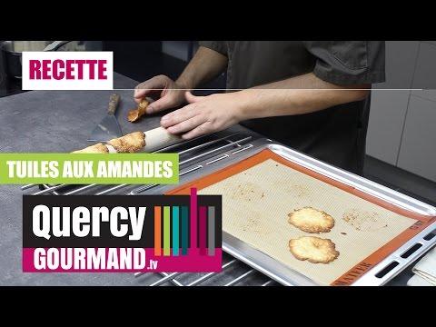 Recette :  Tuiles aux amandes – quercygourmand.tv