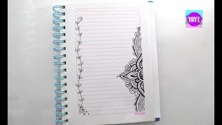 C Mo Marcar Cuadernos Ideas Para Dibujar Mandalas Margenes