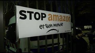 Black Friday : Action de ATTAC devant le siège de Amazon (29 novembre 2019, Clichy, France) [4K]