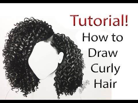 How to draw Curly Hair (from start to finish) tutorial