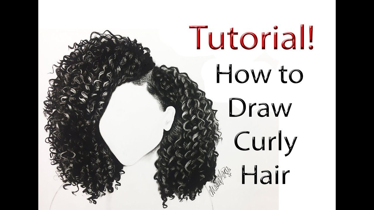 draw curly hair start