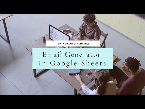 How to create Email Address Generator in Google Sheets