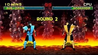 Mortal Kombat 2 M.U.G.E.N - Sub-Zero playthrough thumbnail