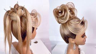 Свадебная вечерняя прическа Прическа на длинные волосы