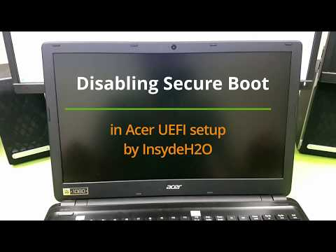 How to disable UEFI Secure Boot on an Acer laptop