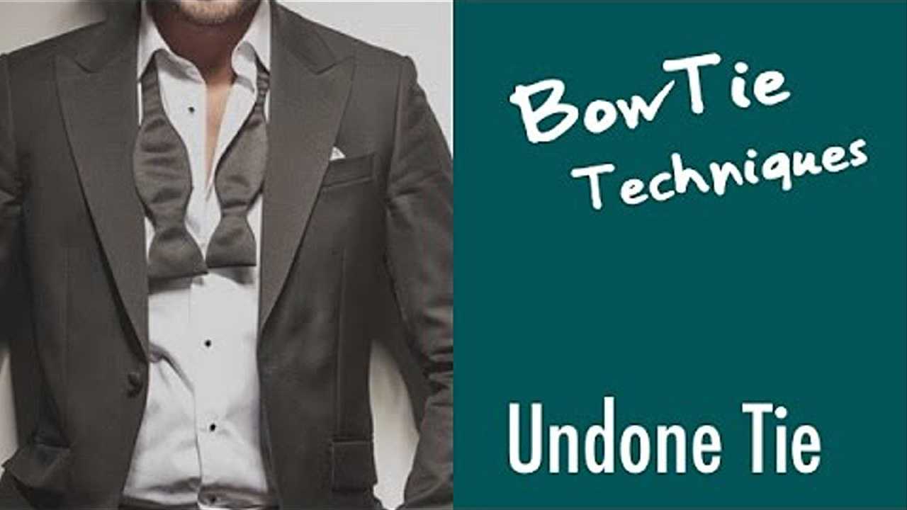 Bow Tie style and techniques/5.Undone BowTie/BOWTIE SPECIMENS - YouTube