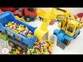 The Wheels on the bus Nursery Rhymes Pororo Dump Truck Excavator gumball Toys YapiTV Toys