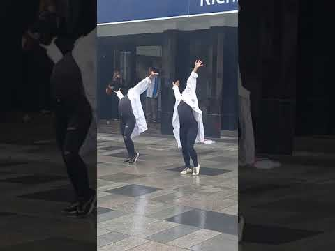 Dancing at Richmond Station day before England v Italy Euro 2020 Final