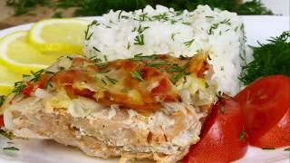 Сочная и вкусная рыба в духовке под шубой, простой и быстрый рецепт!