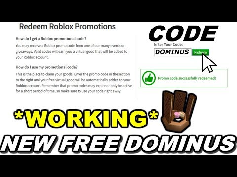 Dominus Promo Codes 2017 Roblox New Awesome Dominus Promo Code Roblox Promo Code Youtube