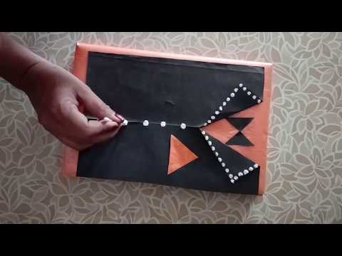 Diy 6 Book cover decoration/Notebook cover design/Decorate notebook/project file cover decoration.