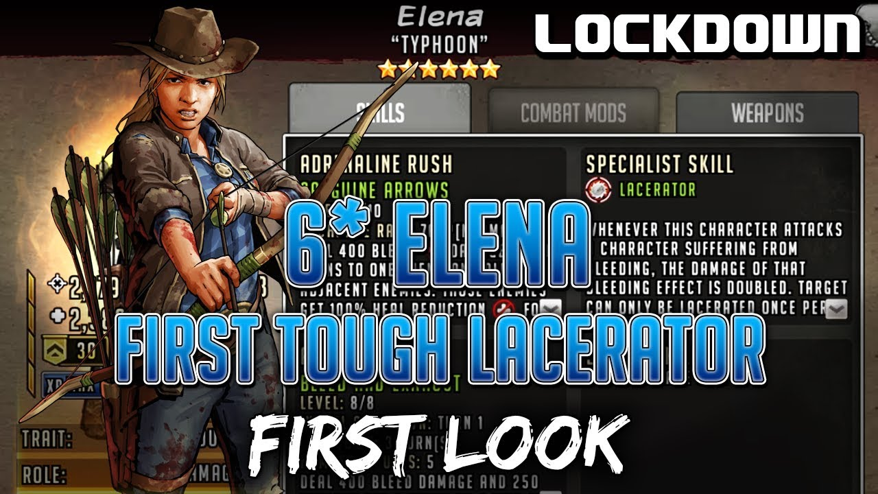 TWD RTS: 6* Elena, First Tough Lacerator - First Look - The Walking Dead:  Road to Survival