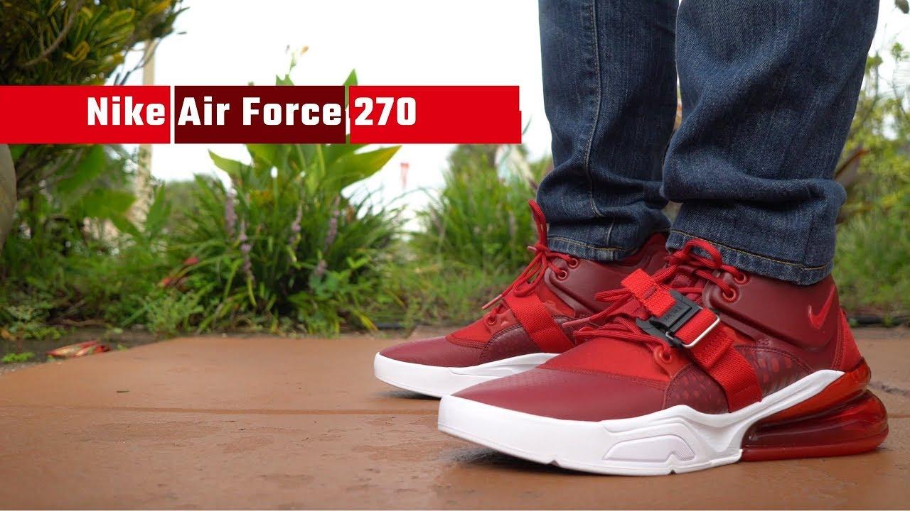 Nike AirForce 270 Red/Gym Colorway