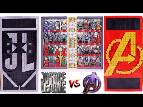 LEGO CHESS MARVEL AVENGERS VS DC JUSTICE LEAGUE (SPEED BUILD) ALLPIN3901 Unofficial Lego