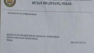 Surat dakwa ADUN Hutan Melintang keluar PKR