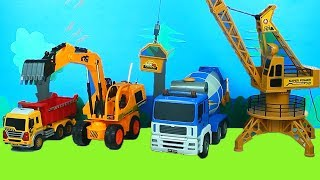 Tractor, Fire Truck, Excavator, Garbage Trucks & Police Cars Construction Toy Vehicles for Kids.
