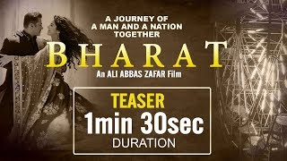 Bharat Movie Official Teaser Duration | Salman Khan | Katrina Kaif | Releasing Soon