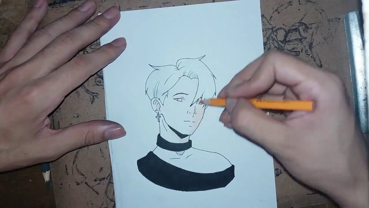 VẼ JIMIN-BTS theo phong cách anime cực đẹp ( drawing jimin bts )