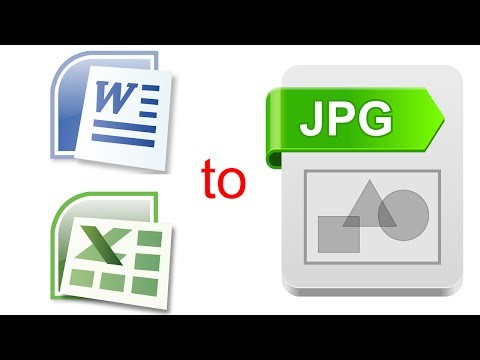 How To Convert Word And Excel To JPEG