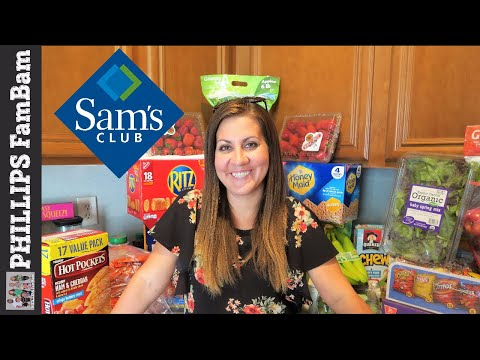 SAMS CLUB GROCERY HAUL   LARGE FAMILY GROCERY SHOPPING   PHILLIPS FamBam Grocery Haul