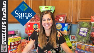 SAMS CLUB GROCERY HAUL | LARGE FAMILY GROCERY SHOPPING | PHILLIPS FamBam Grocery Haul