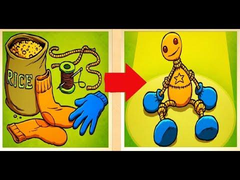 Как сделать БАДИ игрушку героя игры КИК ЗЕ БАДИ  Игрушка для детей своими руками Kick the Buddy