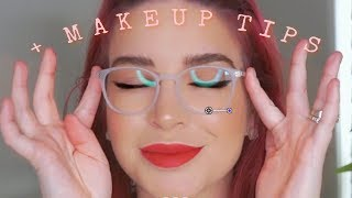 How to SLAY GLASSES 🤓 Haul Try on + Makeup 💋