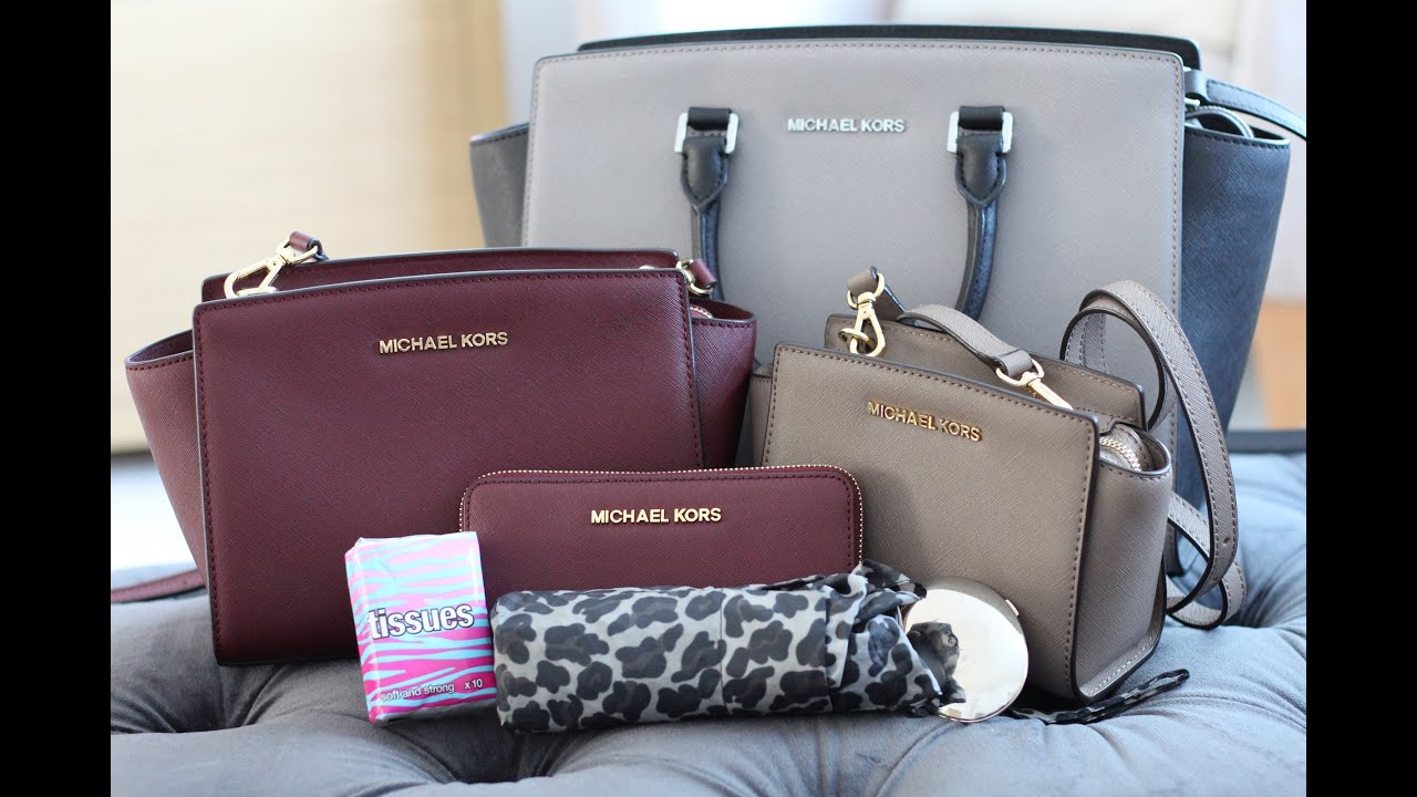 What I Can Fit In My Michael Kors Selma Handbags | Bright Ducky