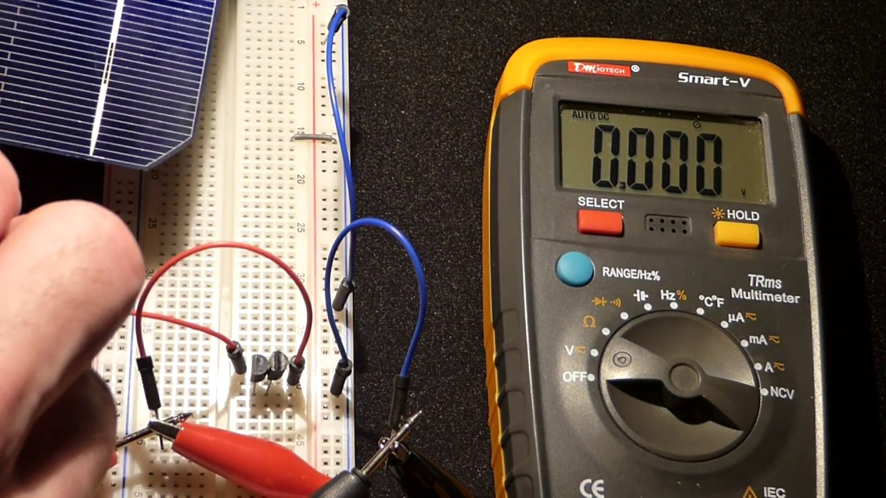 Breadboard Multimeter Testing N Channel Jfet J310 Transistors With Shows A Circuit Cell Lamp And Voltmeter The Is Broken Solar