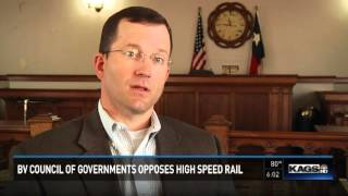 Brazos Valley Council of Governments opposes high speed rail