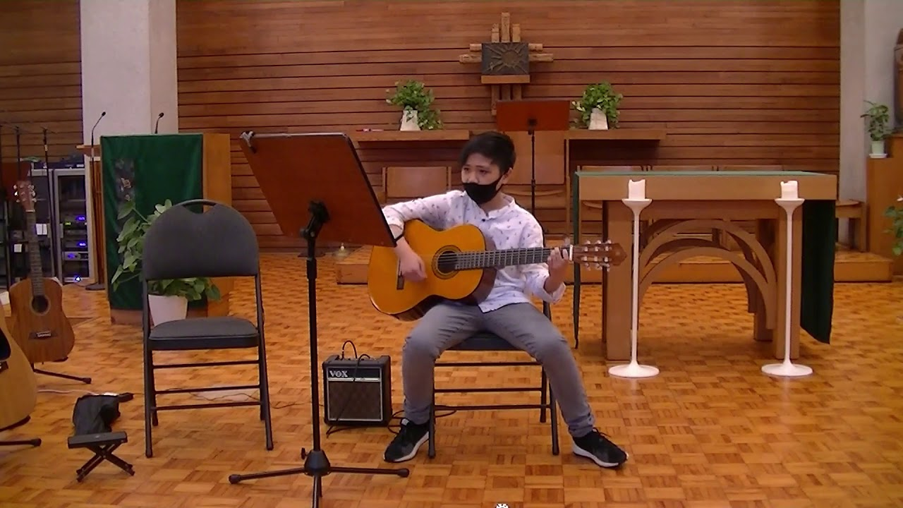 "Raphael plays ""Yesterday"" in the TAGA Student Recital"