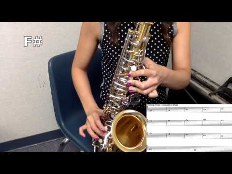 Tuning Scale  Alto Saxophone