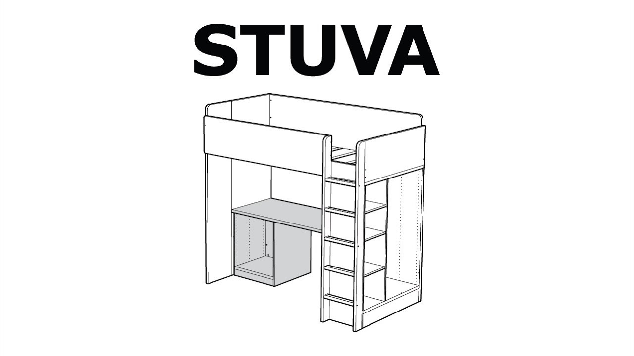 How To Assemble The Stuva Desk Ikea