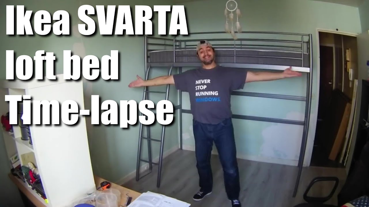 Ikea SVARTA loft bed Timelapse  YouTube