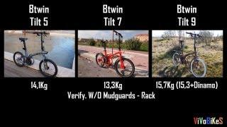 Btwin Tilt 5 vs Btwin Tilt 7 vs Btwin Tilt 9 Compare