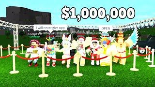 Last Roblox Youtuber To Leave Wins $1,000,000 - Bloxburg Challenge