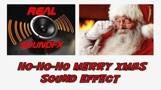 HO HO HO merry christmas SANTA CLAUS sound effect - realsoundFX